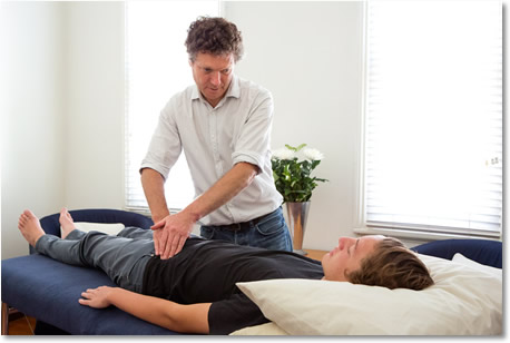 At no time will Hugh employ any movement or touch that causes pain or discomfort.